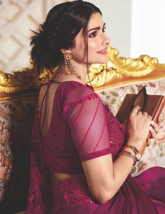 Designer Embroidered Plum Colour Saree for Wedding Reception