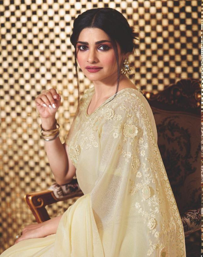 Designer Embroidered Royal Essence Off White Designer Saree