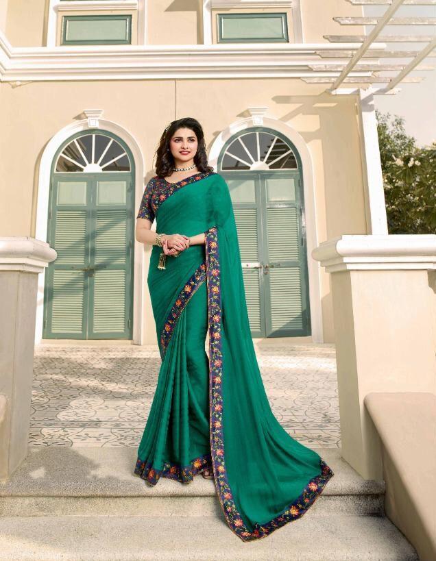 New Designer Contrast Blouse for Silk Saree