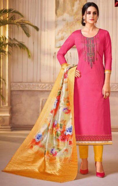 New Designer Pink Color Stitched Suit.