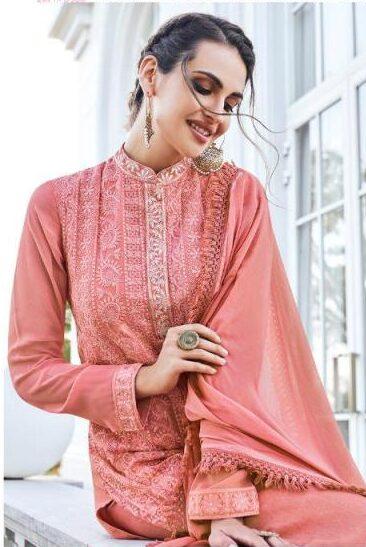 New Designer best Embroidered Lucknowi Chikankari Suit.