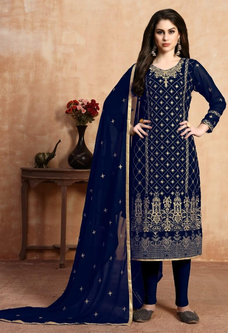 New Pretty Blue Color Designer Suit With Price