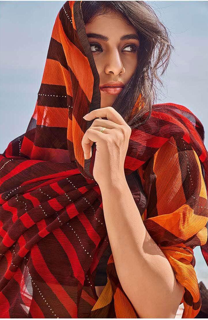 Contrast Designer Blouse Saree Design Latest