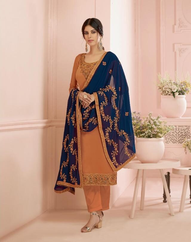 Heavy Embroidered Bridal Unstitched Punjabi Suits Online