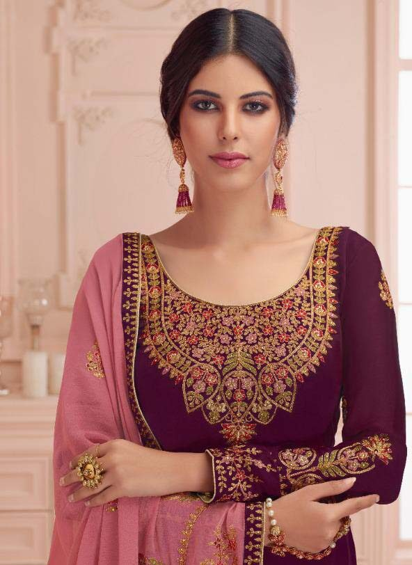 Heavy Embroidered Punjabi Suits with Heavy Dupatta