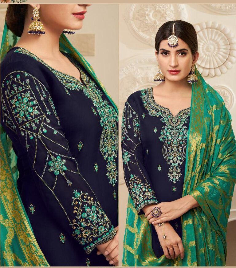 Karwa Chauth Dresses Punjabi Salwar Suits Heavy Embroidery