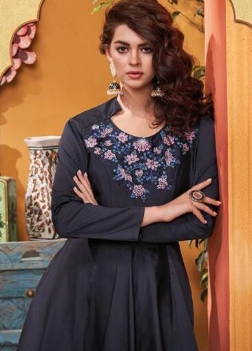 New Designer Gray Color Latest Gown With Price