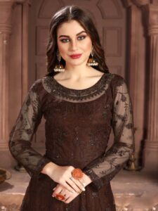 New Designer Brown Color Kundali Bhagya Dresses With Price