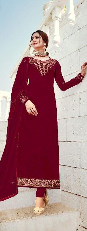 New Designer Heavy Embroidered Karwa Chauth Salwar Kurta.