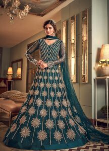 New Designer Navy Blue Party Wear gown With Price