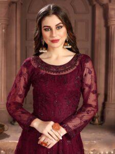 New Designer Preeta Arora Red Color Anarkali Suit.
