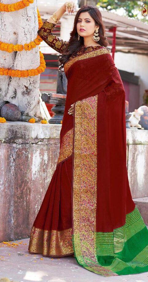 New Designer Soft Silk Saree Below 1500