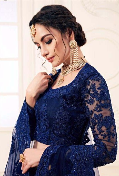 New Designer blue color bridal lehenga collection