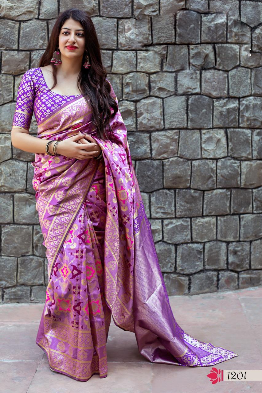 Party Wear SIlk Saree New Designs for Wedding