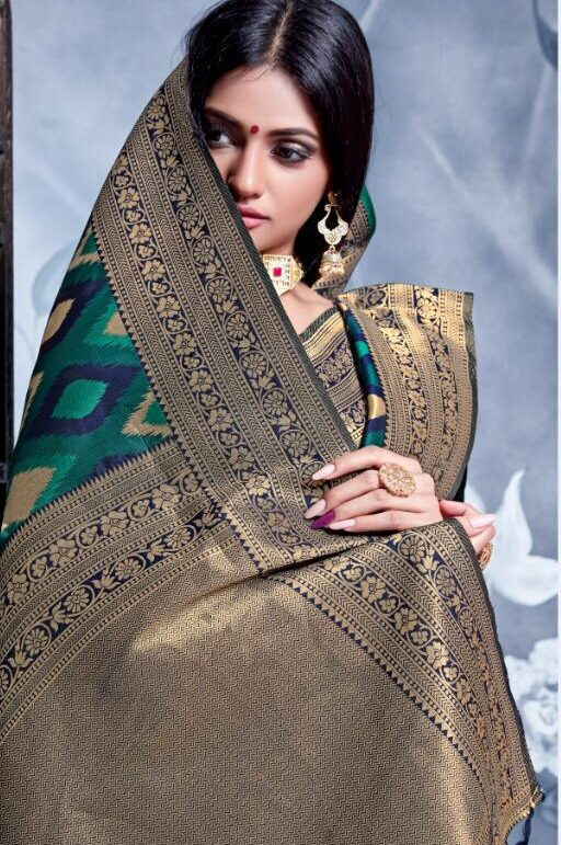 Patola Silk Saree in Green