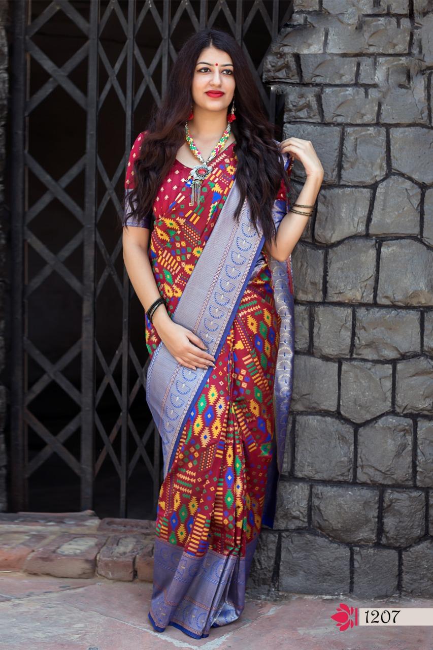 Silk Saree Banarsi Designer Blouse