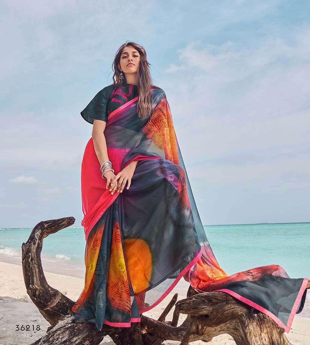 Soft New Georgette Saree with Designer Blouse