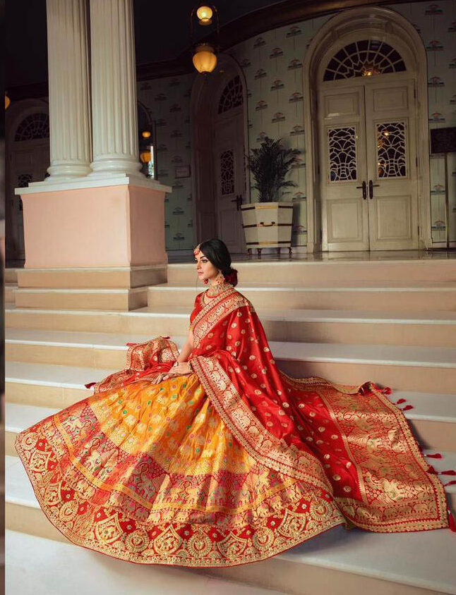 Brand New Wedding Designer Mode Yellow Color Lehenga