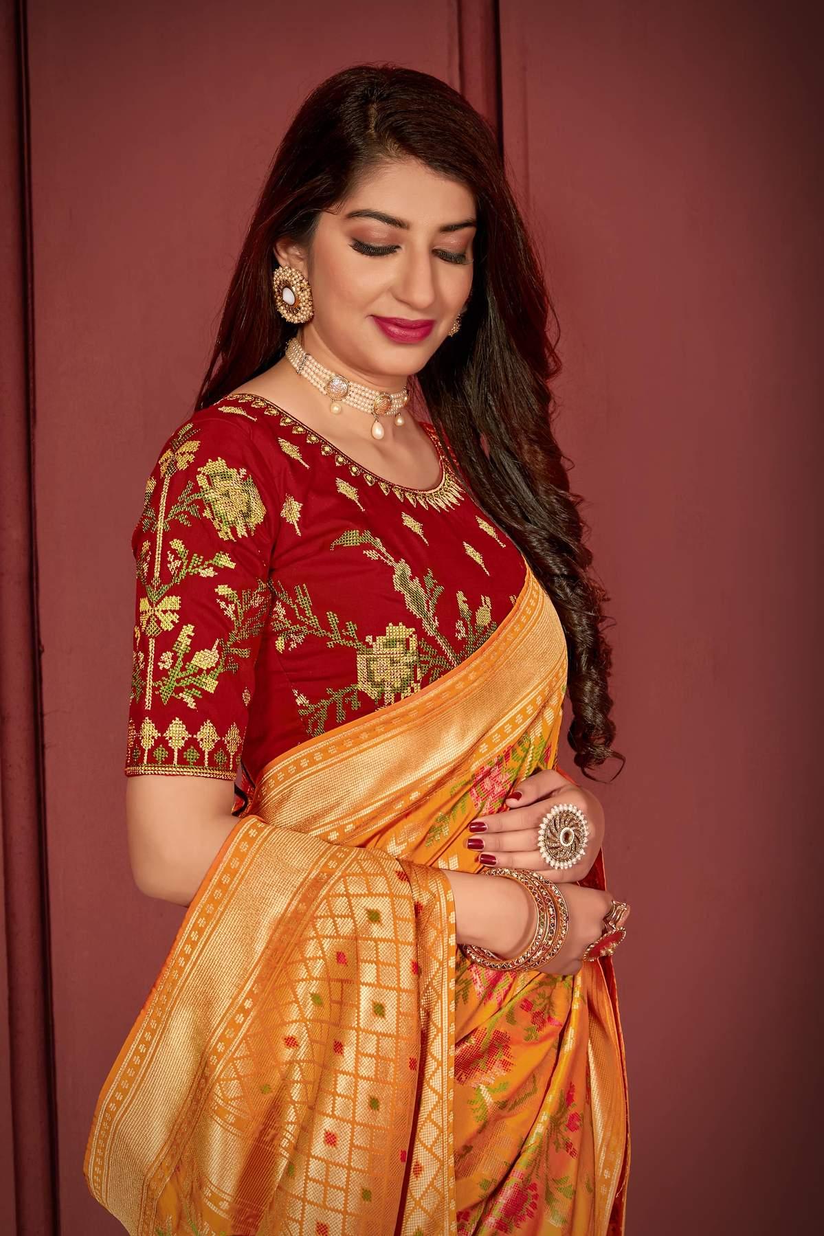 Designer Banarasi Saree Blouse Designs 2020