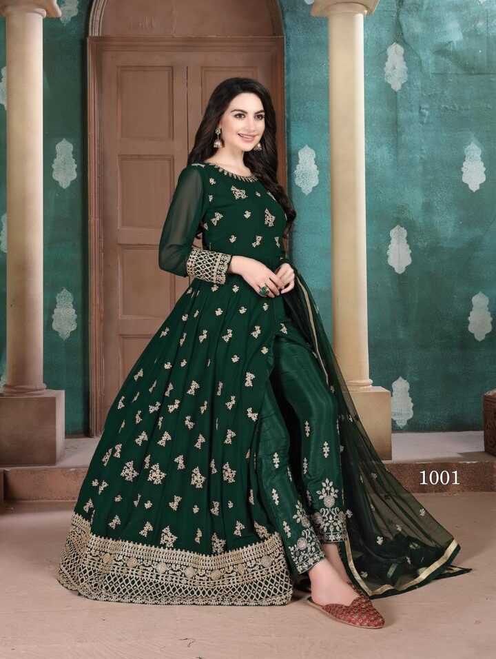 Heavy Embroidered Anarkali Dress For Women