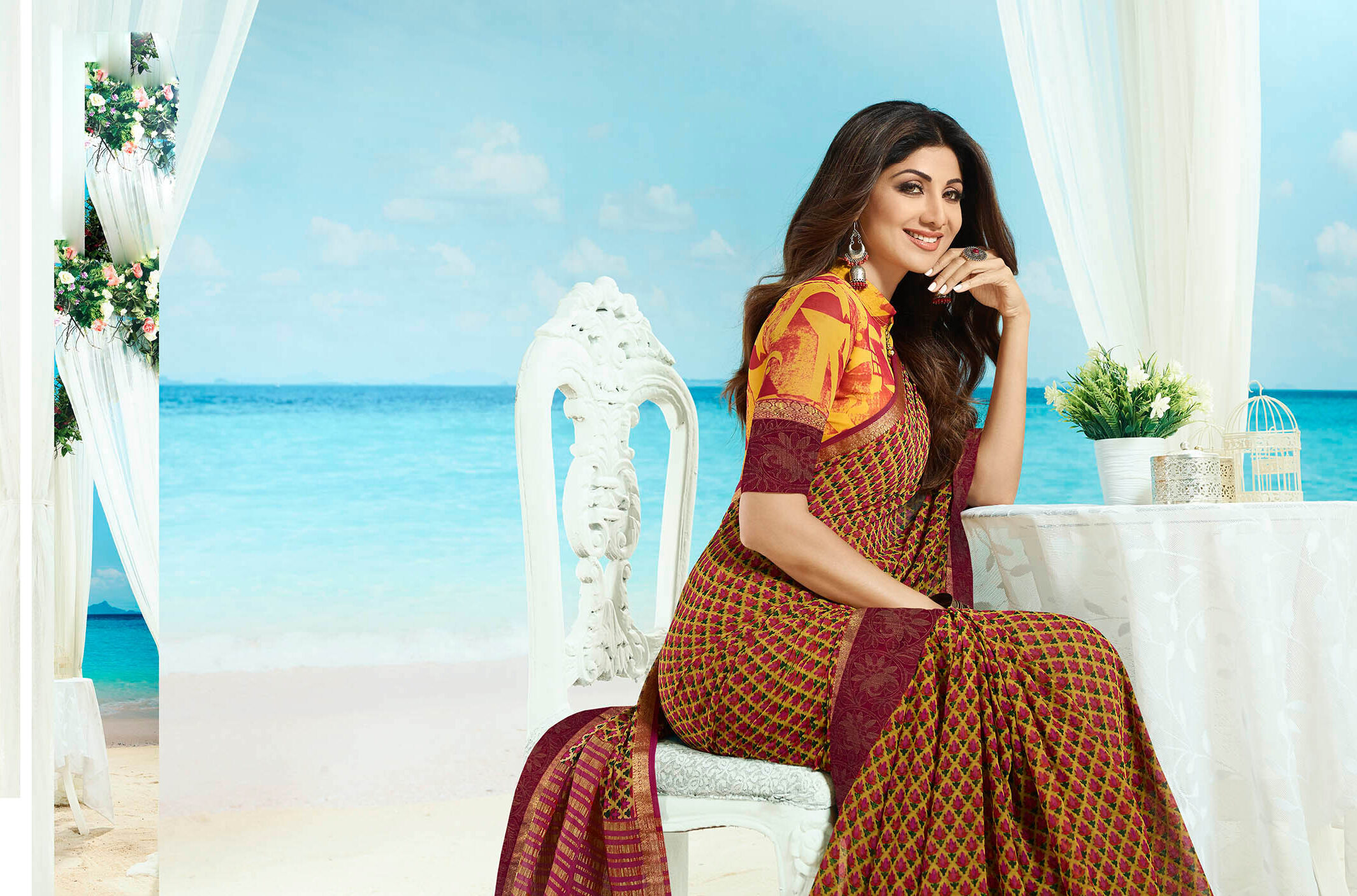 New trend designer Barrasso saree with an embroidered blouse.