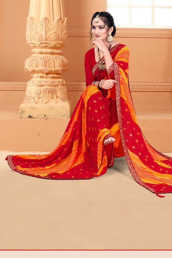 New trend designer casual wear silk saree with a price