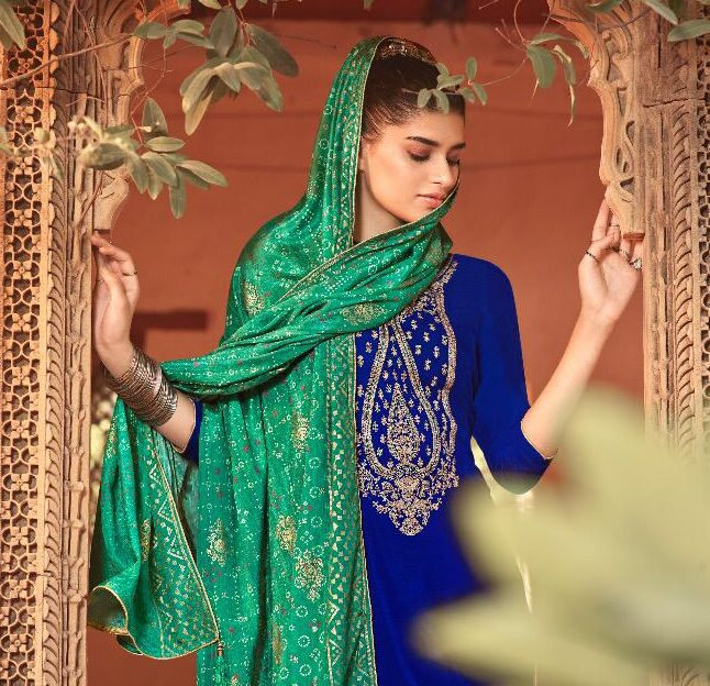 Party Wear Embroidered Salwar Suits for Ladies