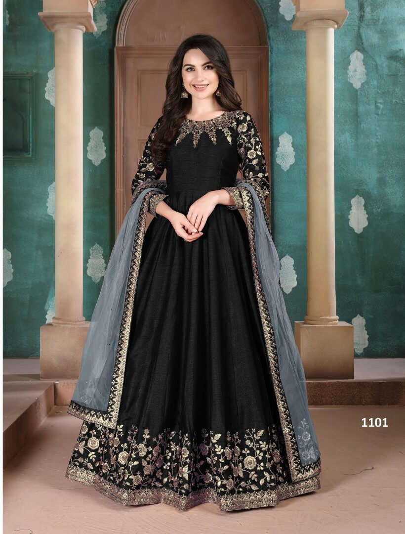 Party Wear Latest Designer Anarkali Suits in Black