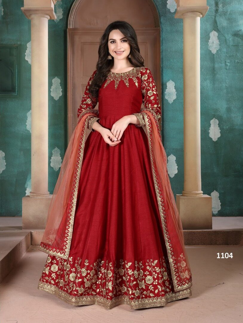 Party Wear Long Anarkali Suits with Dupatta