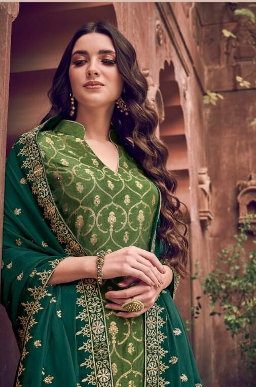 Party Wear Pant Plazo Suit Design Latest Images