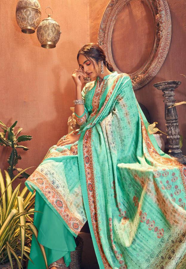 Best Skyblue Color wedding Winter Salwar Kameez online