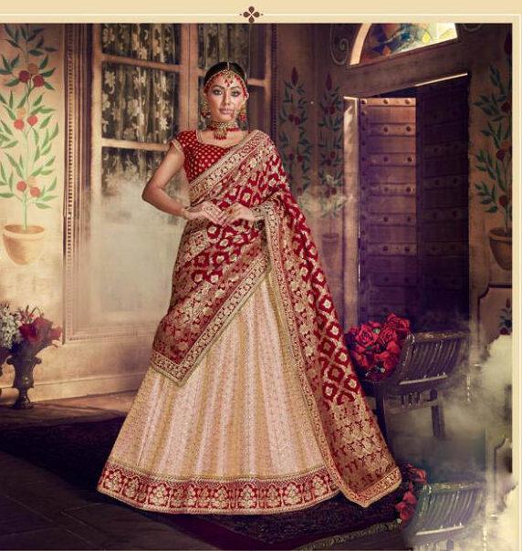 Best White Color Bridal Lehenga For Wedding Online Cost.
