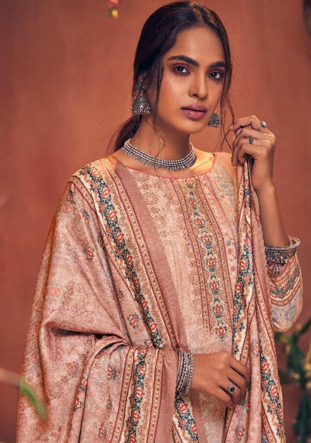 Best White Color Pure Pashmina Winter salwar kameez