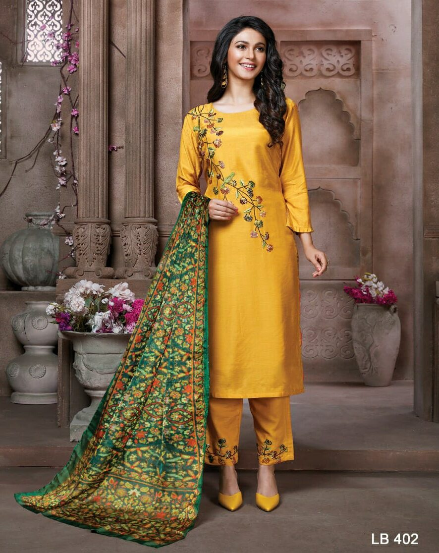Designer Embroidered Latest Long Kurti With Palazzo Heavy Dupatta