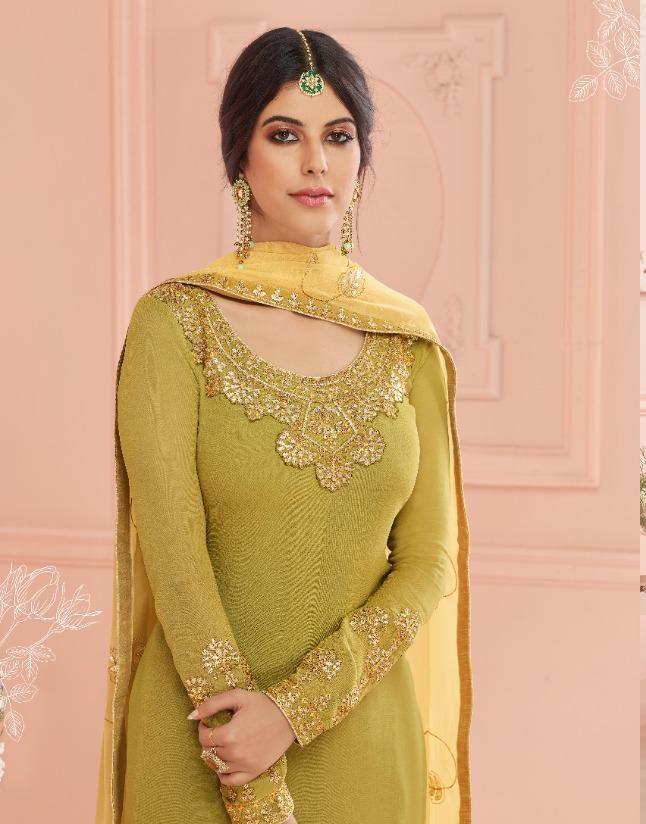 Embroidered Dupatta Chhoti Sardarni Style Party Wear Salwar Suits