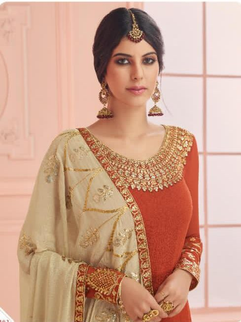 Heavy Embroidered Latest Design for Plazo Suit