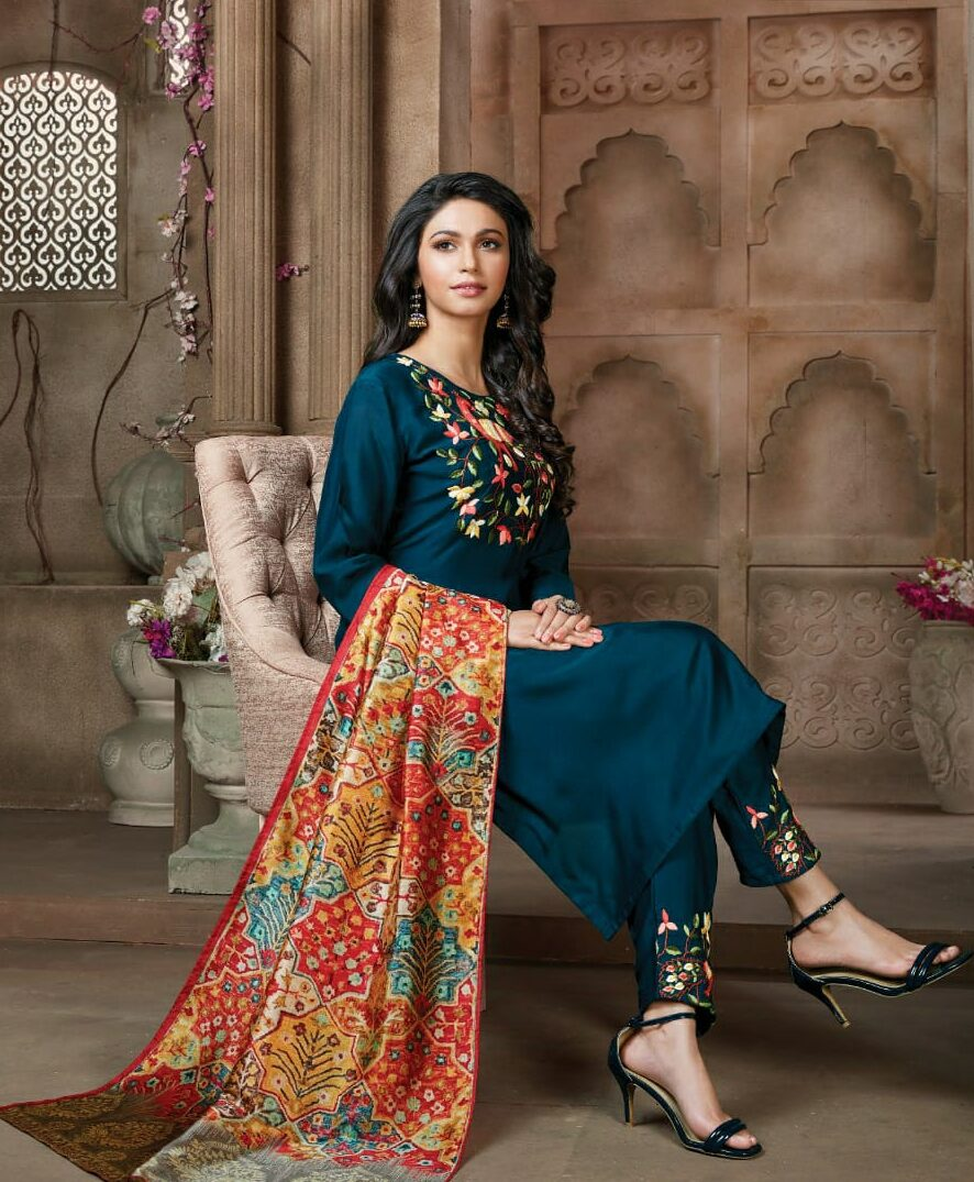 Latest Designer Embroidered Palazzo Suits Party Wear