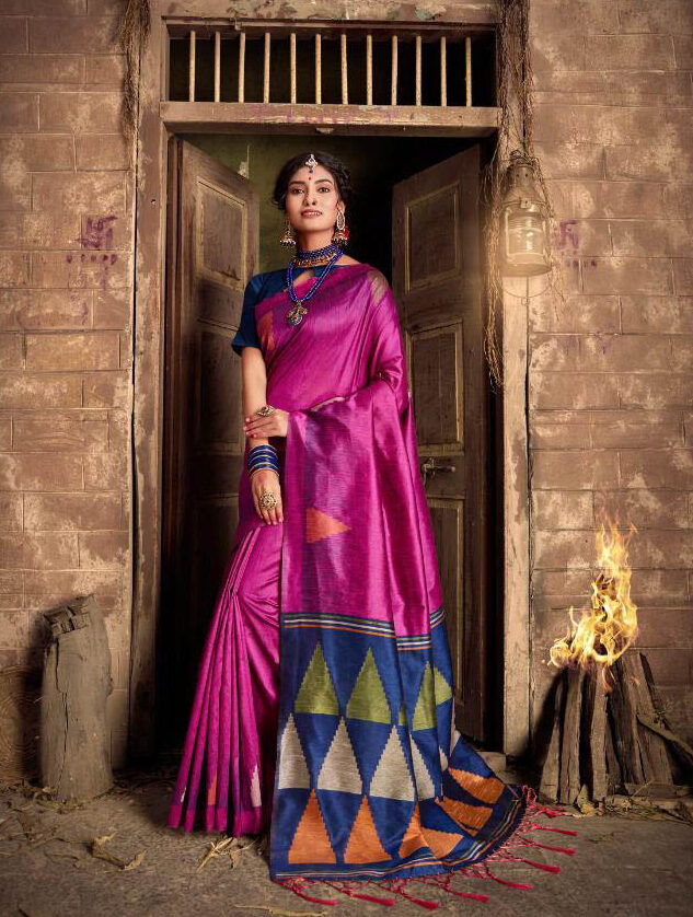 New Latest Update Pink Color Party Wear Silk Saree