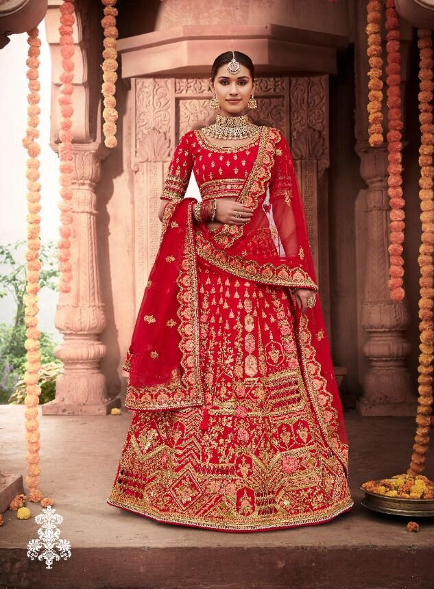 New Trend Designer Red Lehenga For Bride.