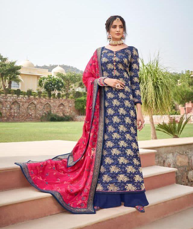 Royal Blue Colour Designer Heavy Suits for Marriage