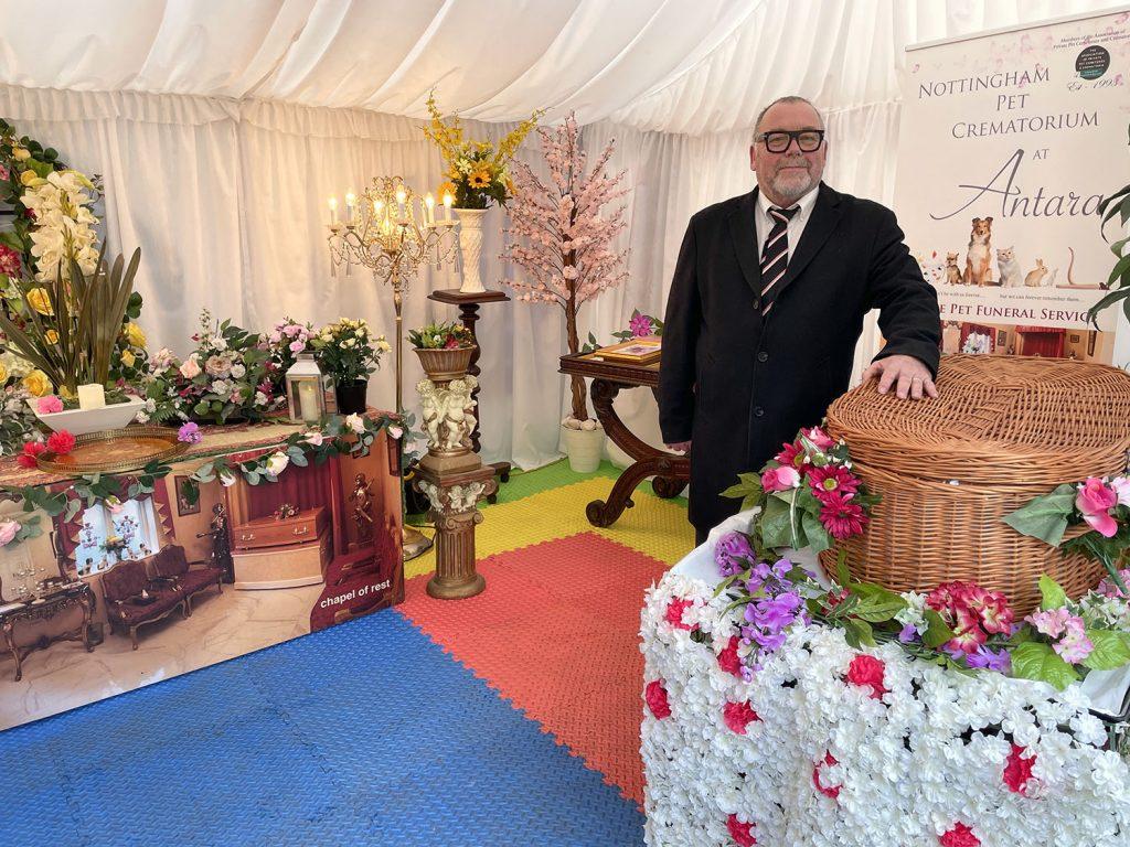 Nottingham Pet Crematorium flower bridge gazebo