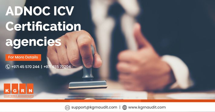 ADNOC ICV certification agencies