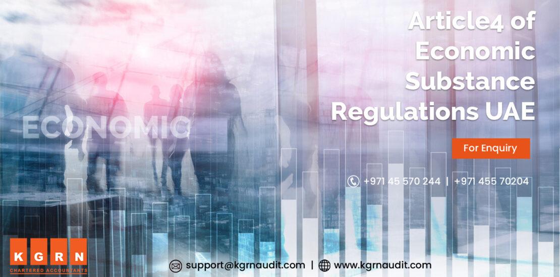 Article4 of Economic Substance Regulations UAE