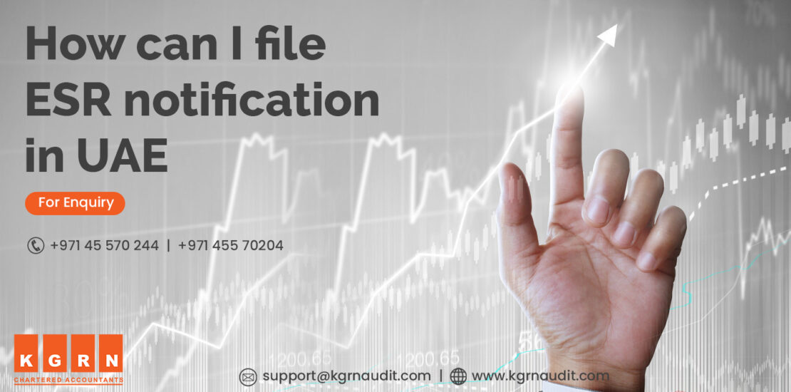 How can I file ESR notification in UAE