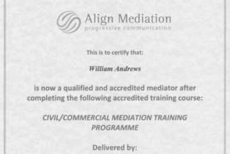 Align Mediation Certificate