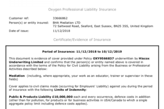 oxygen insurance policy