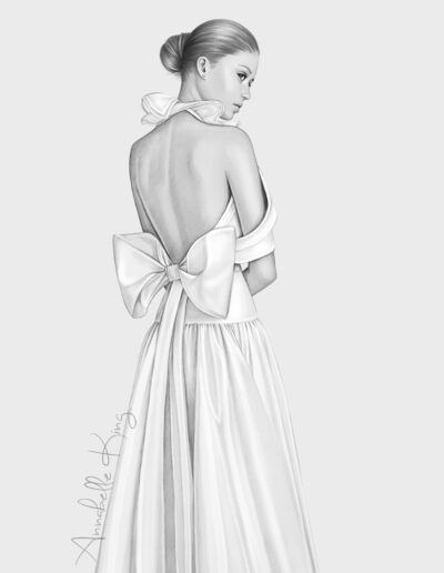 fashion illustration by Annabelle king