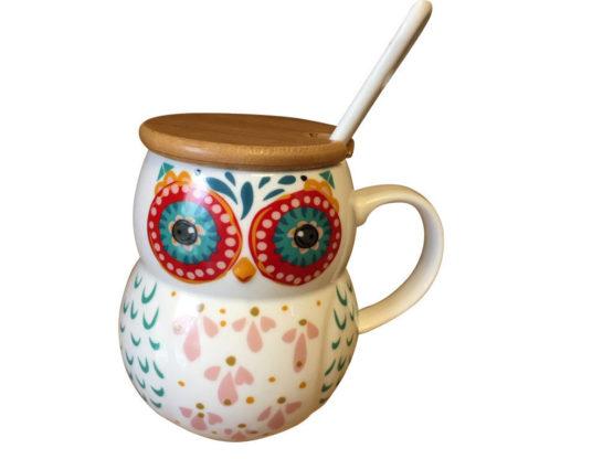 owl mug spoon