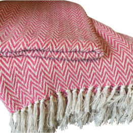 Pink Zigzag Throw