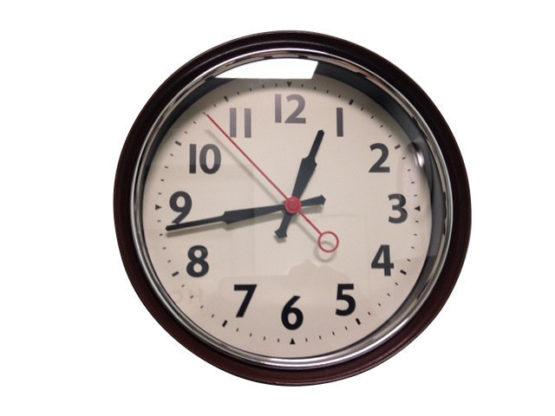 Retro Brown Wall Clock